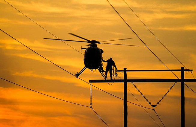 Pennsylvania Transmission Line Construction Helicopters